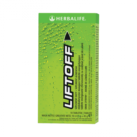 LiftOff Efervescent Băutură energizantă Lămâie-lime 10 tablete per cutie